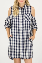ijoah Checkered Shirt Dress - Front cropped