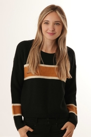 ijoah Cropped Wide-Stripe Sweater - Front cropped