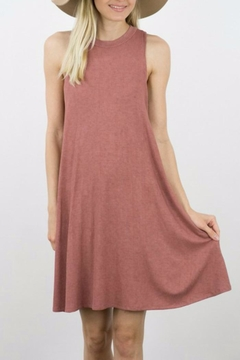 ijoah Ribbed Flair Dress - Product List Image