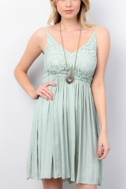 ijoah Seafoam Backless Dress - Product Mini Image