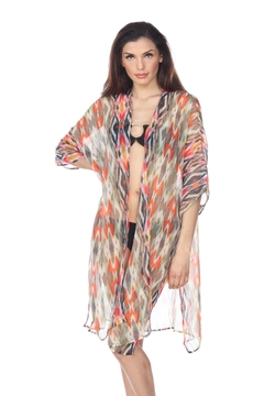 Shoptiques Product: Ikat Printed Cover-Up