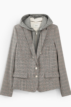 IKKS Prince Of Wales Check Hooded Tailored Jacket - Product List Image