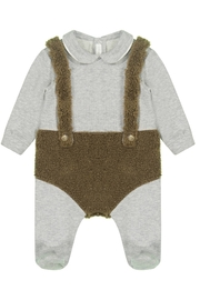 Il Gufo IL GUFO Baby Bear Bodysuit with Faux Blanket and Hat Gift Set - Product Mini Image