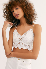 Free People Ilektra Bralette White - Front cropped