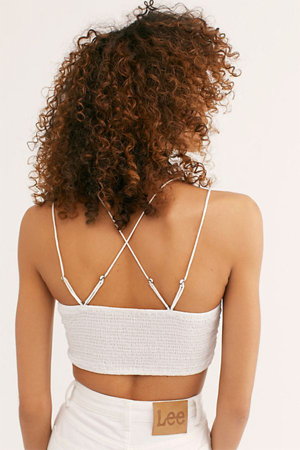 Free People Ilektra Bralette White - Front Full Image