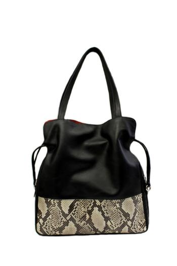 Shoptiques Product: Leather Drawstring Tote - main