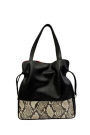 Shoptiques Product: Leather Drawstring Tote - Front cropped