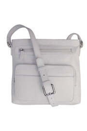 ILI White Leather Crossbody - Front cropped