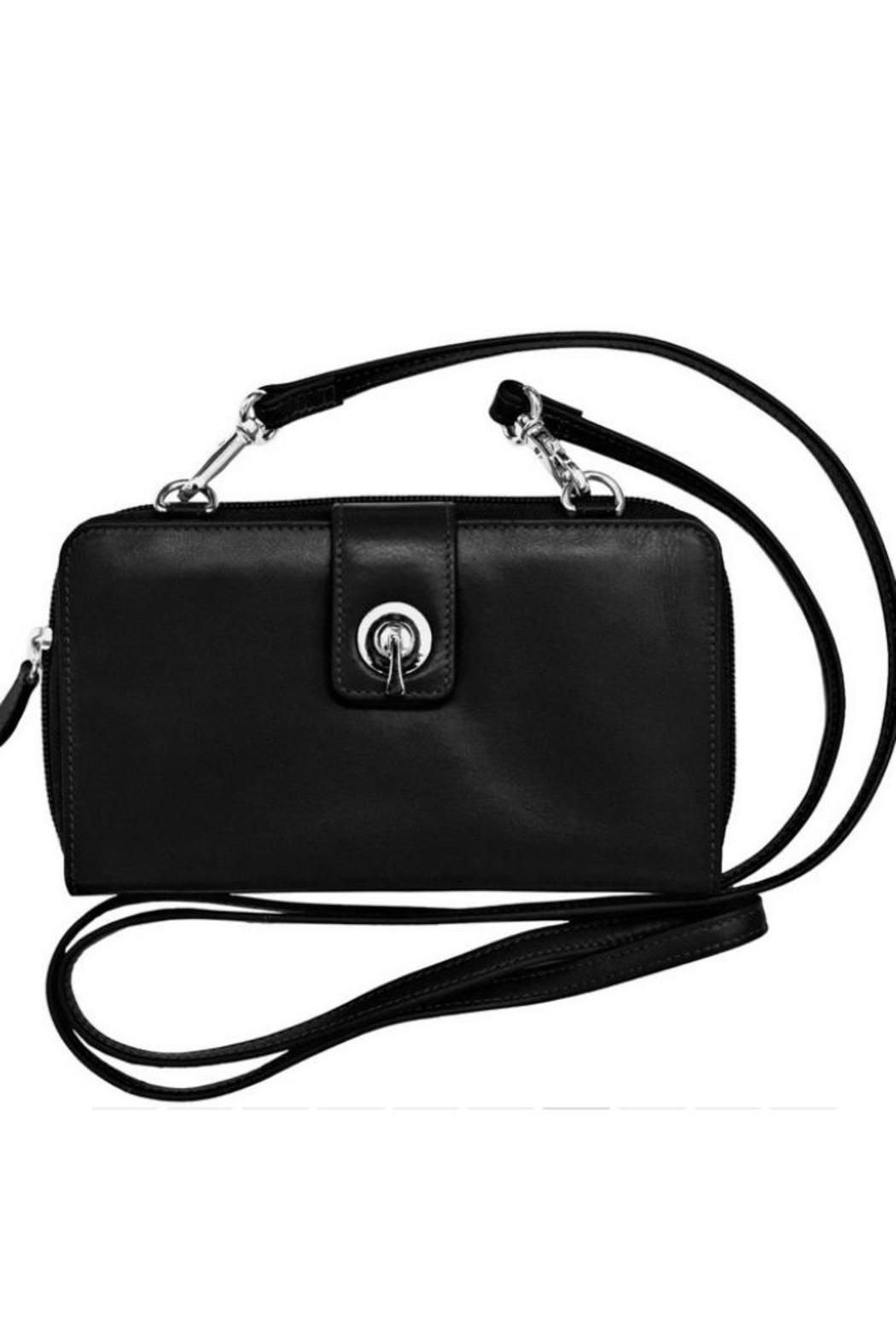 ili world Black Leather Crossbody - Main Image