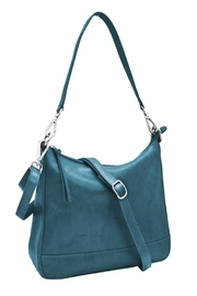 ili world Blue Convertible Hobo - Front cropped