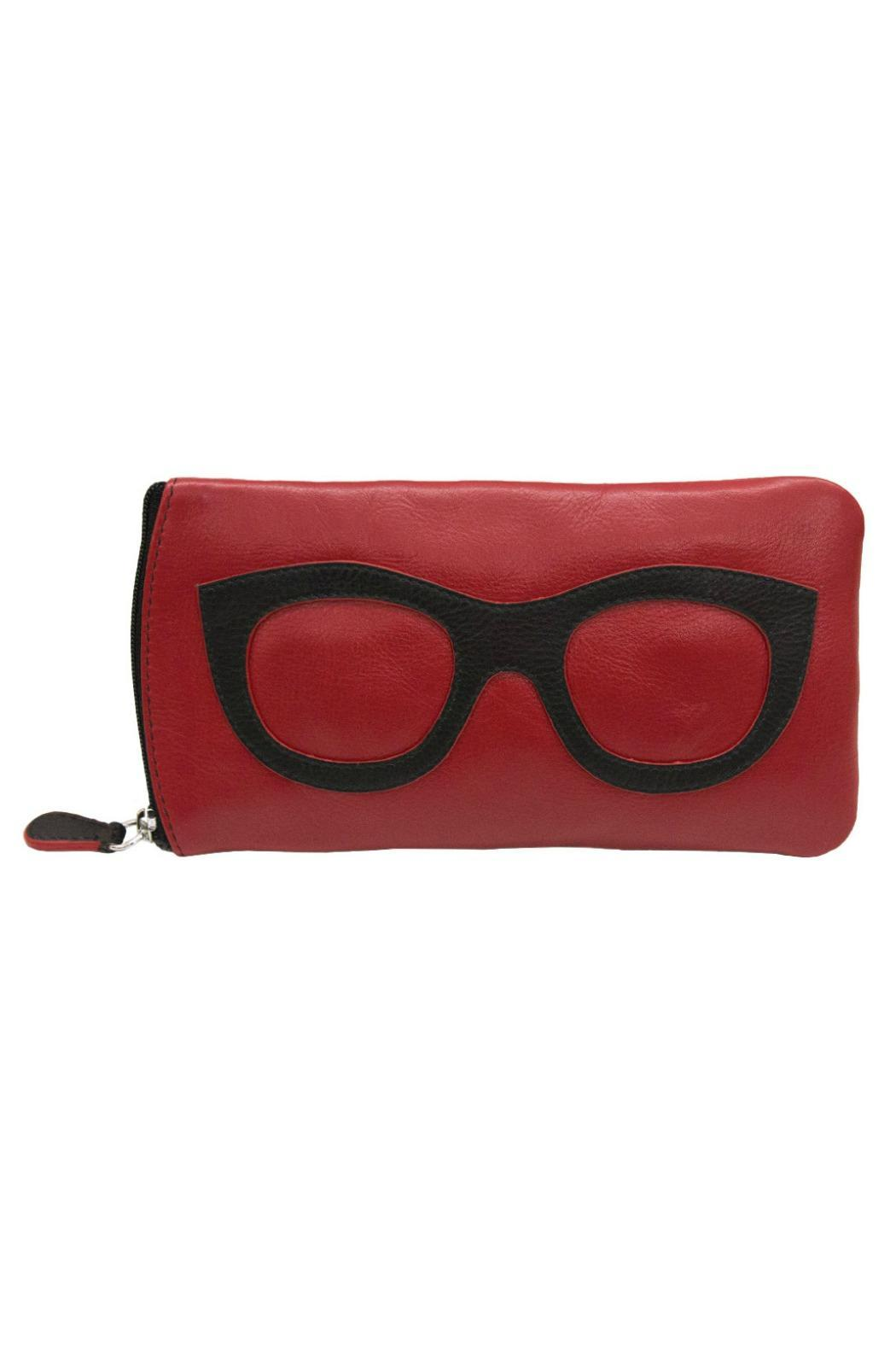 ili world Leather Eyeglass Case - Front Cropped Image