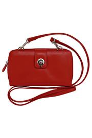 ili world Red Leather Crossbody - Front cropped