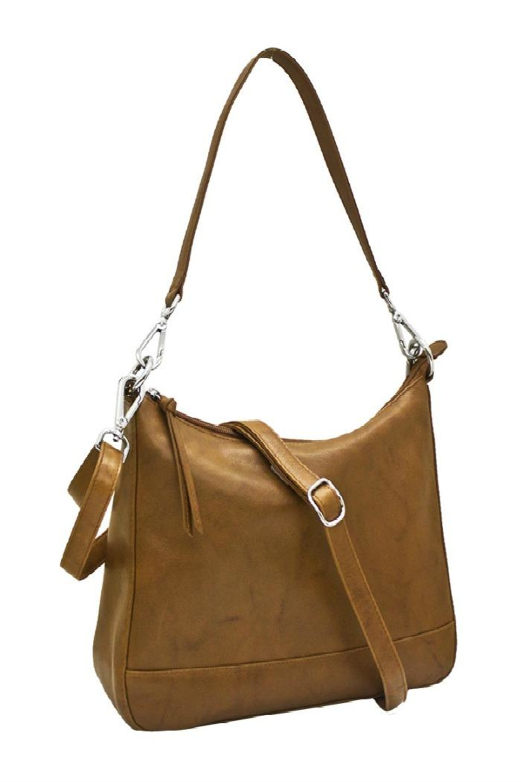 ili world Tan Convertible Hobo - Front Cropped Image