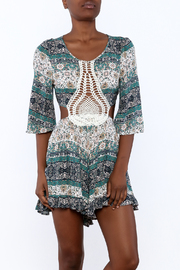 Illa Illa Crochet Patch Romper - Front cropped