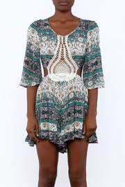 Illa Illa Crochet Patch Romper - Side cropped