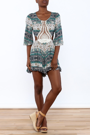 Illa Illa Crochet Patch Romper - Front full body