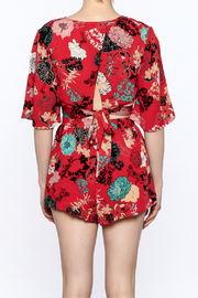Illa Illa Red Floral Matching Set - Back cropped
