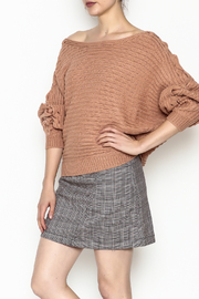 Illa Illa Lace Up Sleeve Sweater - Product Mini Image