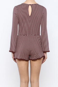 Shoptiques Product: Maroon Striped Romper