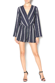 Illa Illa Navy Striped Romper - Front full body