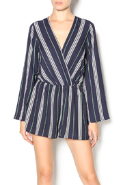 Illa Illa Navy Striped Romper - Front cropped