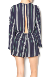 Illa Illa Navy Striped Romper - Back cropped