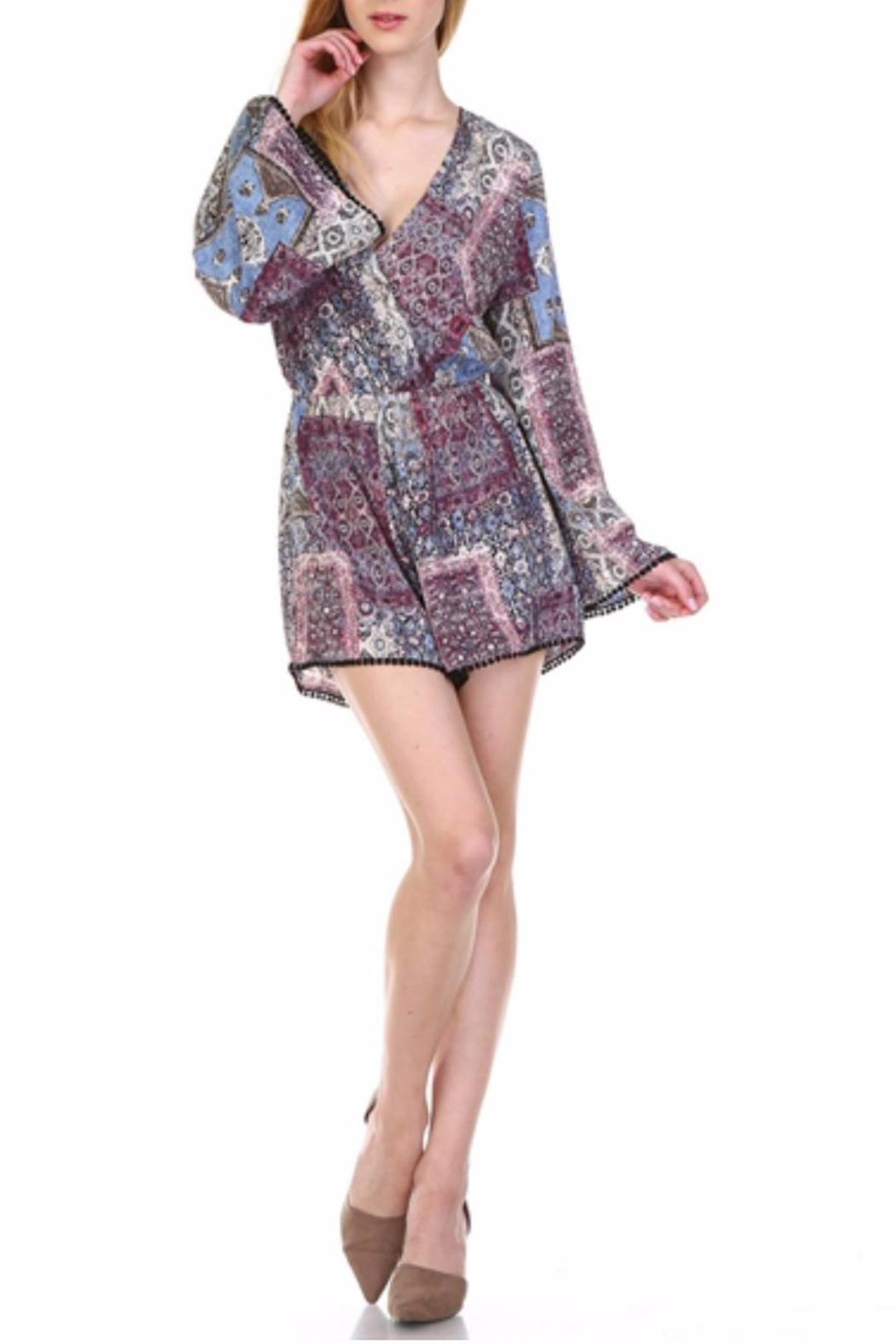 Illa Illa Bell Sleeved Romper - Front Cropped Image
