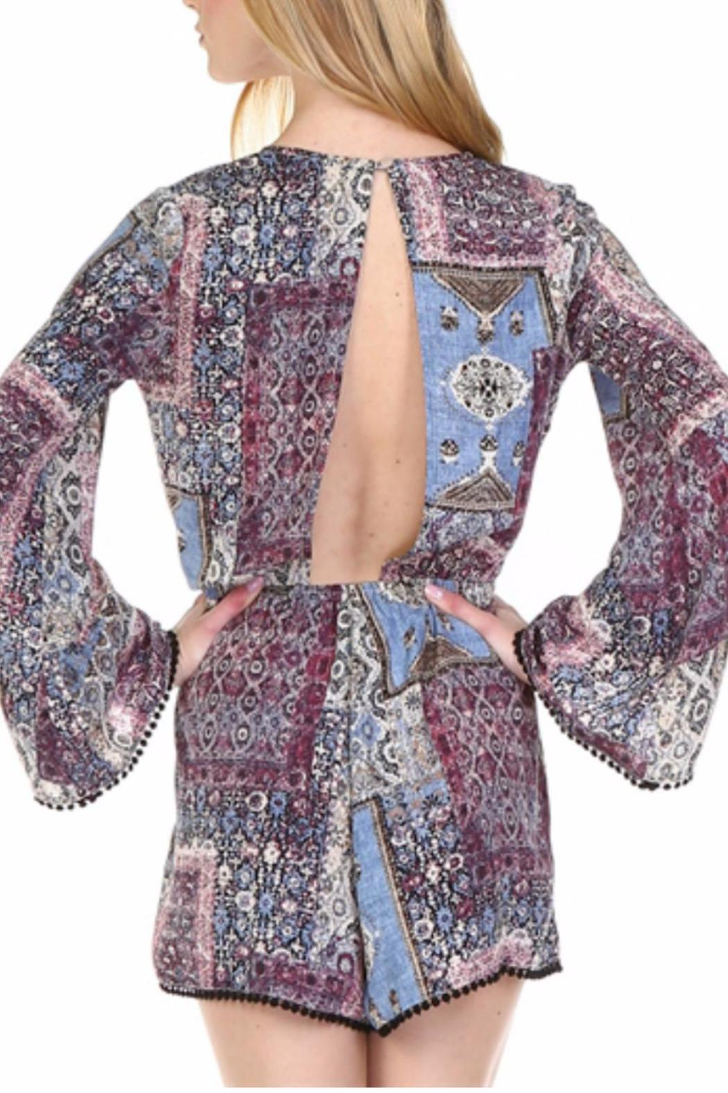 Illa Illa Bell Sleeved Romper - Side Cropped Image