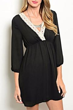 Shoptiques Product: Black Crochet Dress