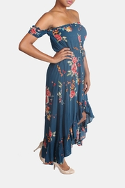 Illa Illa Blue Off-The-Shoulder Floral-Dress - Other