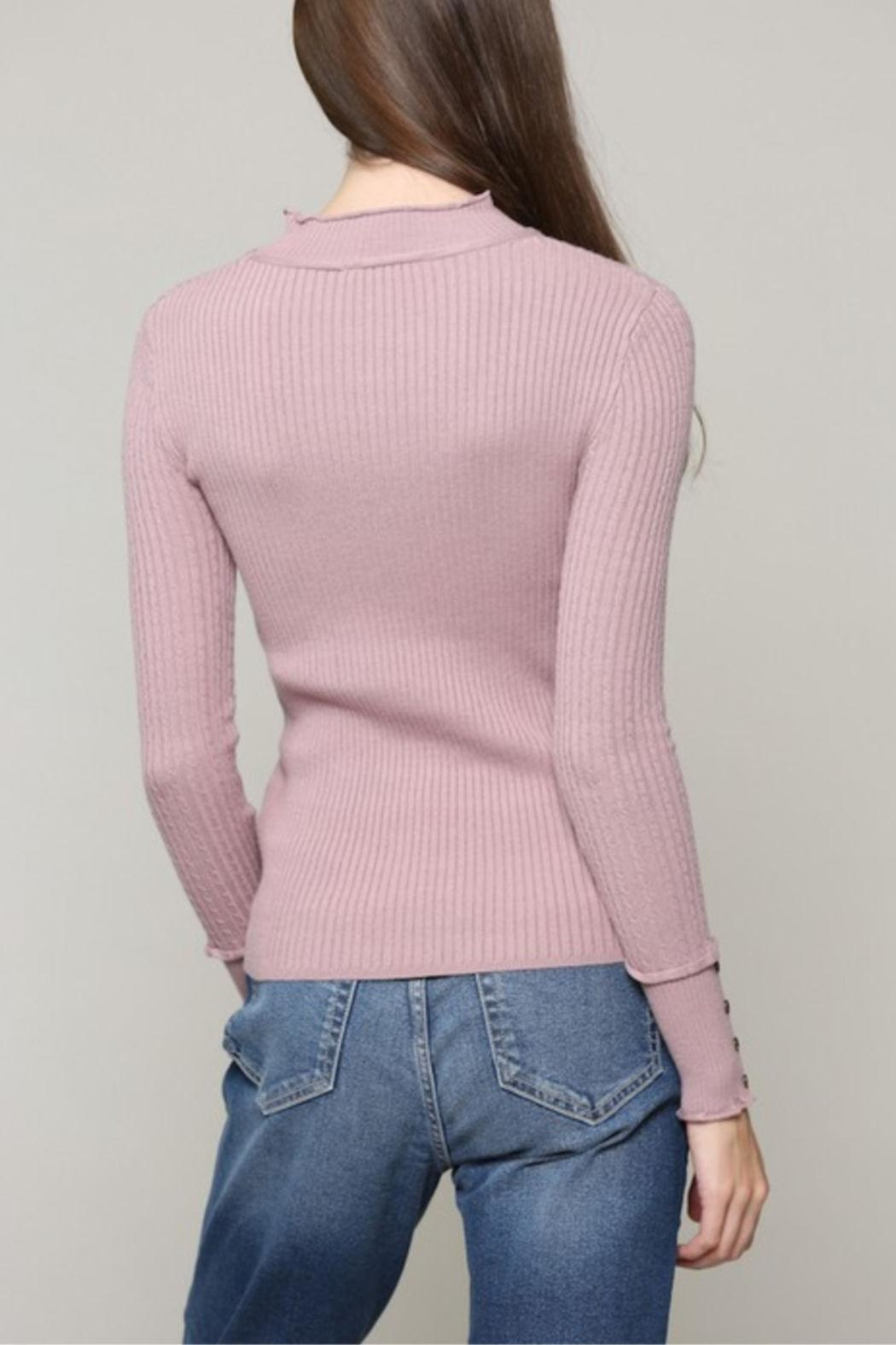 Illa Illa Cableknit Button Top - Side Cropped Image
