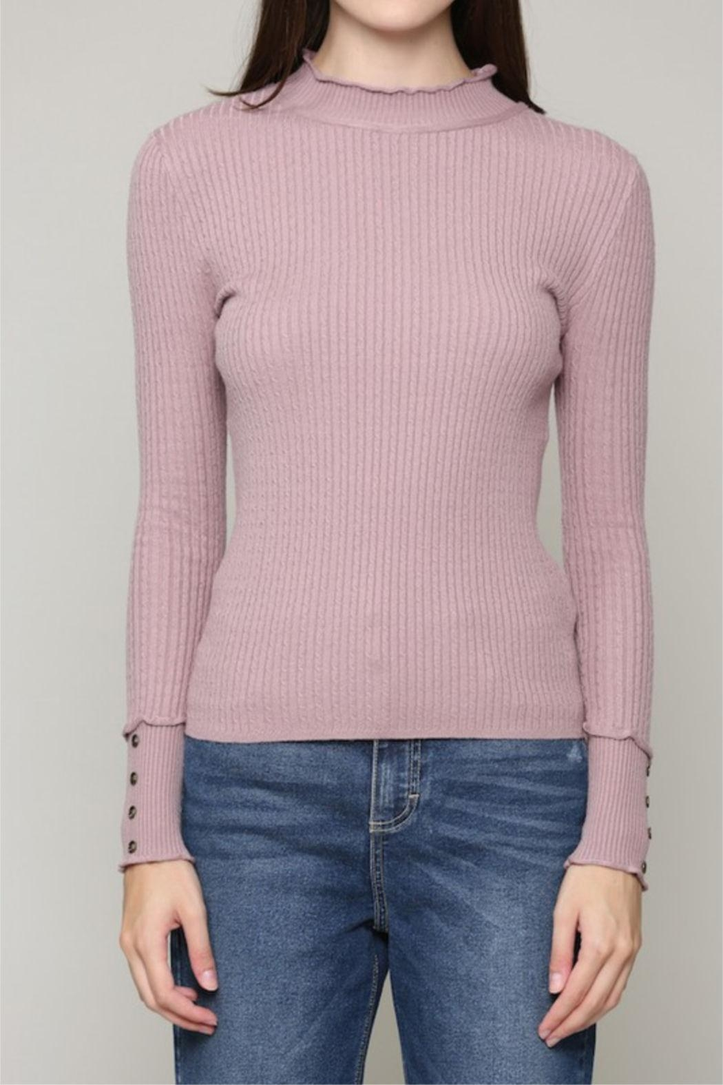 Illa Illa Cableknit Button Top - Front Full Image
