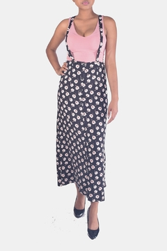 Shoptiques Product: Floral-Suspender Maxi Skirt