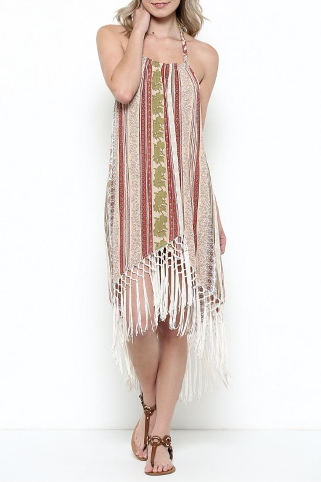 Illa Illa Fringe Halter Dress - Main Image