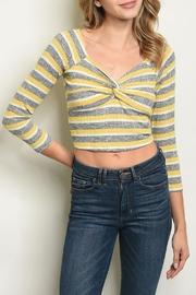 Illa Illa Knotted Crop Top - Product Mini Image
