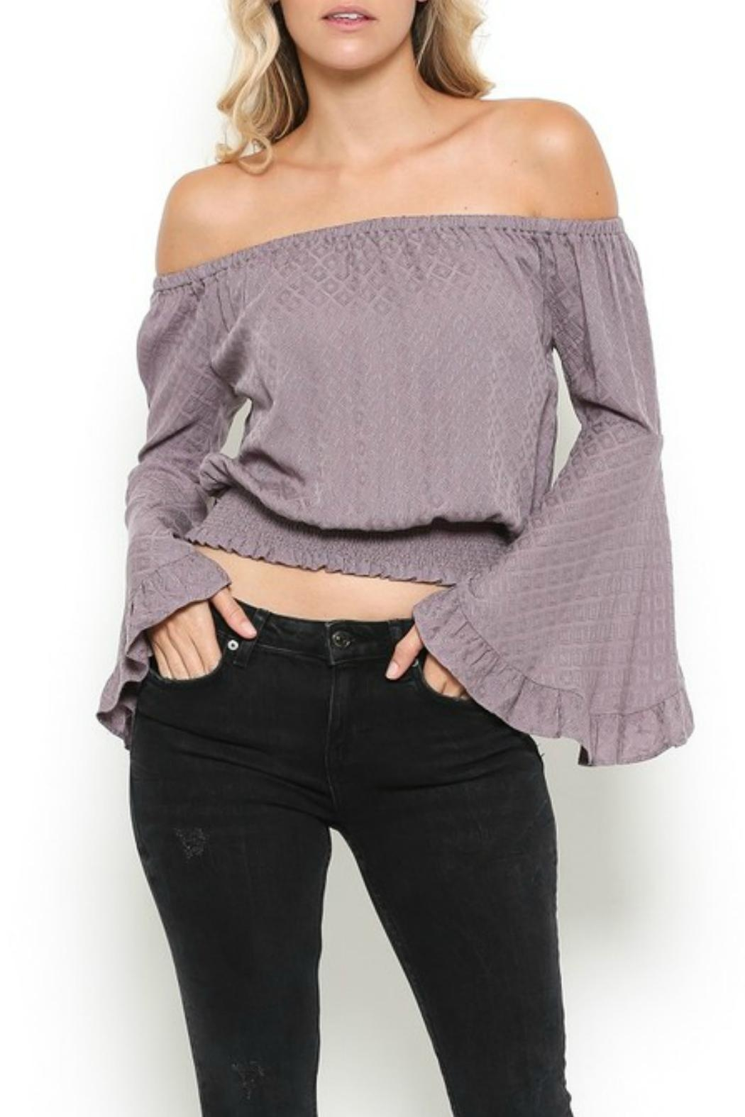 Illa Illa Lavender Off-The-Shoulder Top - Main Image