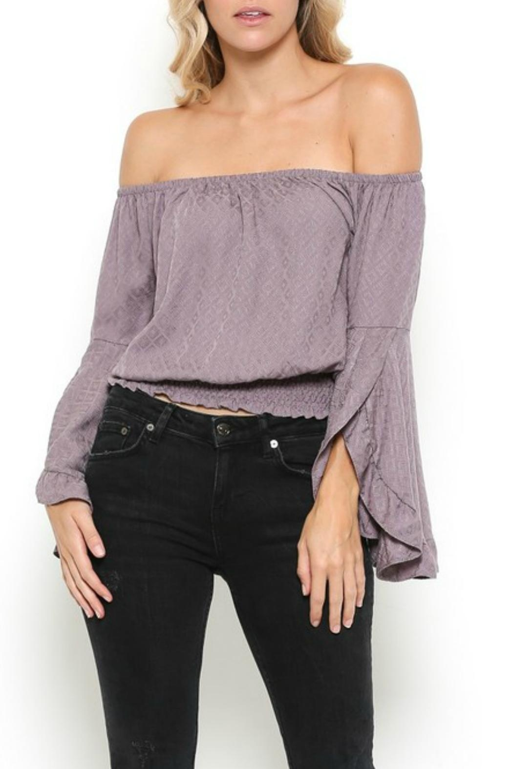 Illa Illa Lavender Off-The-Shoulder Top - Front Full Image
