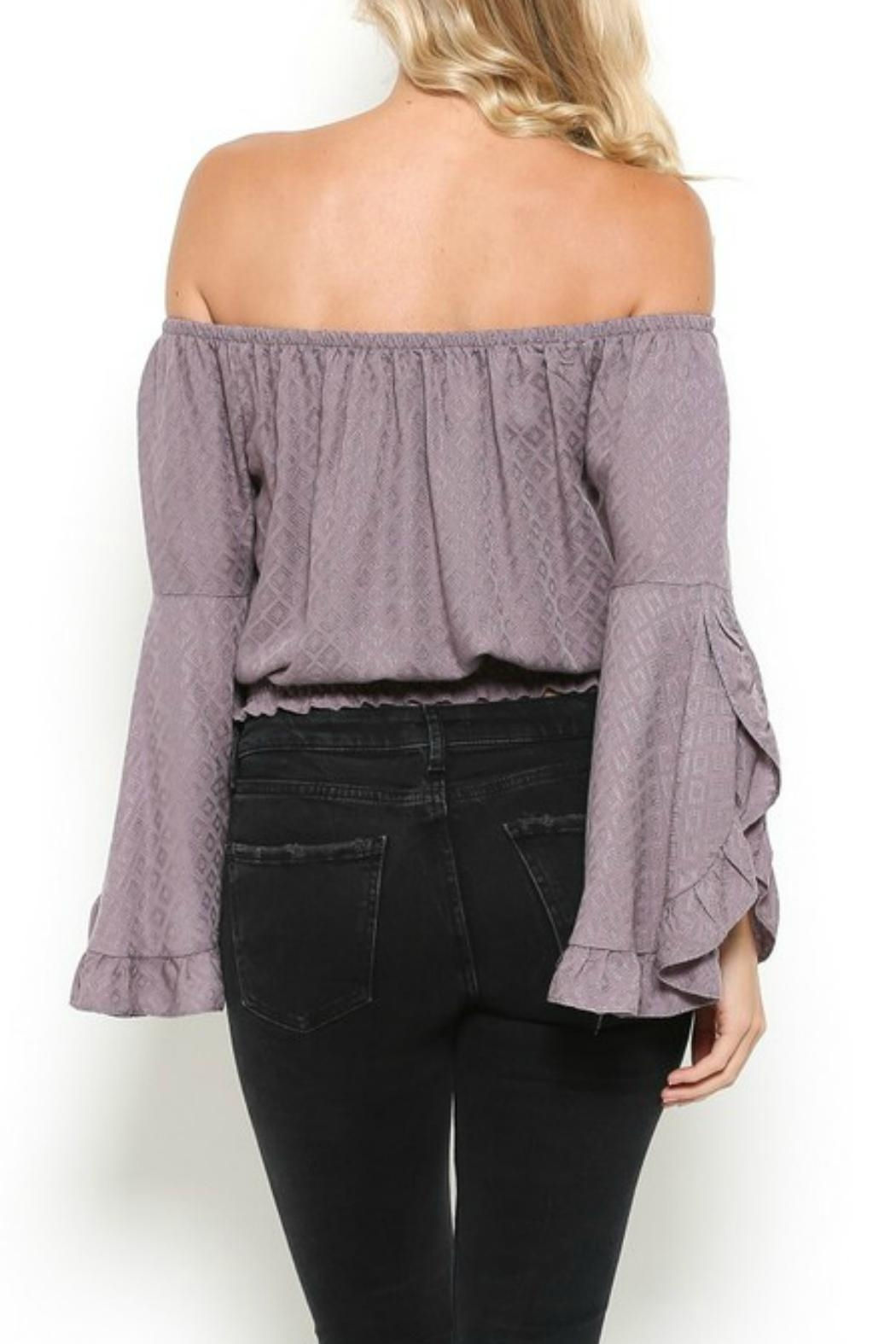 Illa Illa Lavender Off-The-Shoulder Top - Side Cropped Image