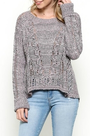 Illa Illa Lavender Open Back Sweater - Front cropped