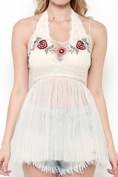 Shoptiques Product: Mesh Embroidered Top
