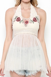 Illa Illa Mesh Embroidered Top - Front cropped
