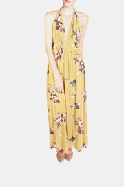 Illa Illa Mustard Floral Maxi Dress - Product Mini Image