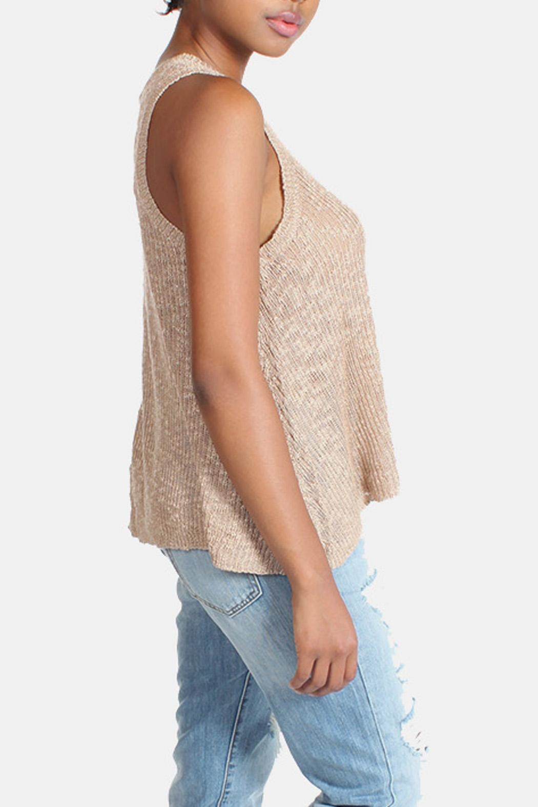 Illa Illa Oatmeal Knit Tank - Side Cropped Image