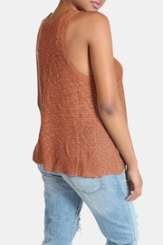 Illa Illa Oatmeal Knit Tank - Back cropped