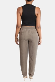 Illa Illa Olive Drawstring Pants - Back cropped