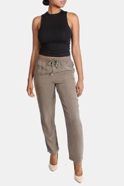 Illa Illa Olive Drawstring Pants - Front full body