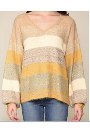 Illa Illa Sequin Colorblock Sweater - Product Mini Image