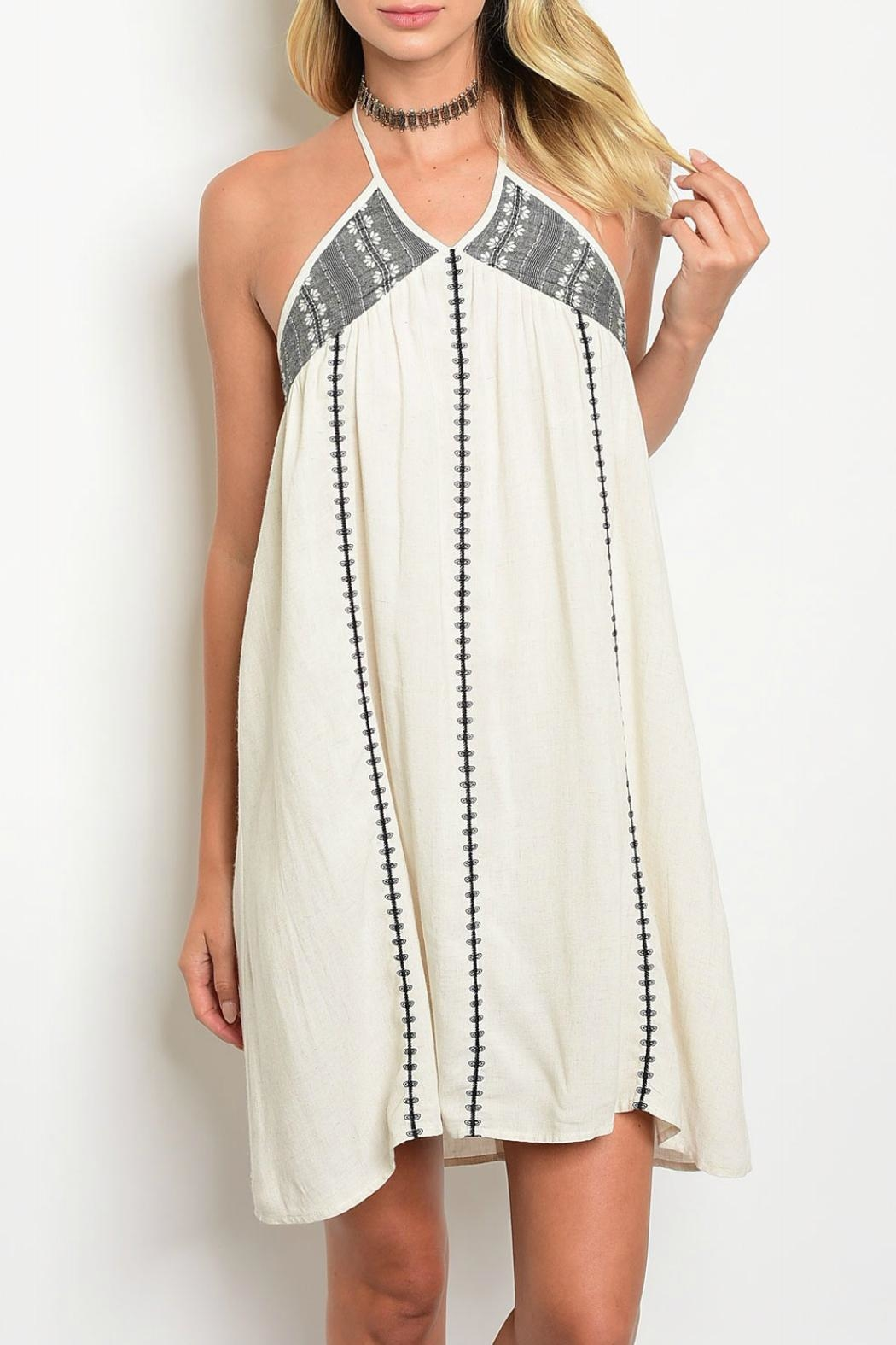 Illa Illa Skye Halter Dress - Front Cropped Image