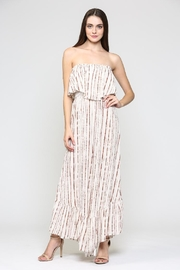 Illa Illa Strapless Striped Jumpsuit - Product Mini Image