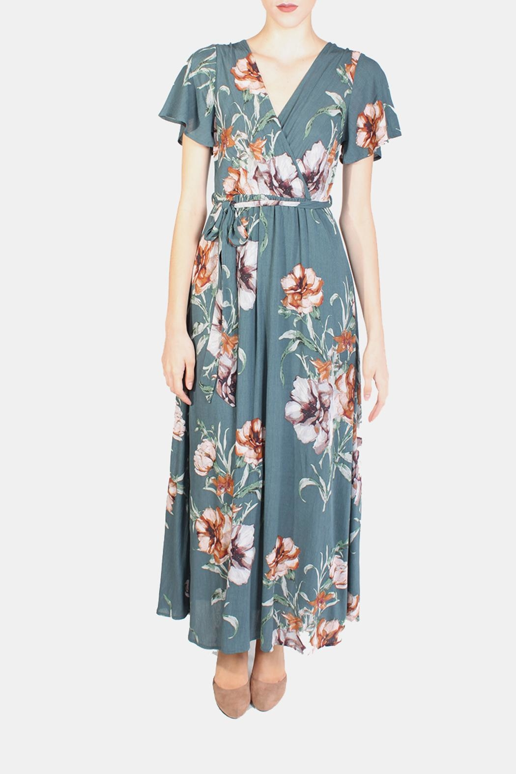 Illa Illa Sunrise Floral Wrap Dress - Main Image